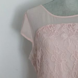 Fit and Flare Light Pink Dress